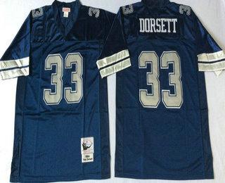 new style 74a74 9c9fe Men's Dallas Cowboys #33 Tony Dorsett Navy Blue With Silver ...