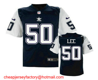 Discount Men's Dallas Cowboys #52 Justin Durant White Road NFL Nike Elite Jersey  supplier