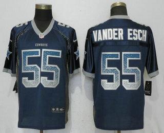 timeless design d5c5e ef0bf Men's Dallas Cowboys #55 Leighton Vander Esch Navy Blue ...
