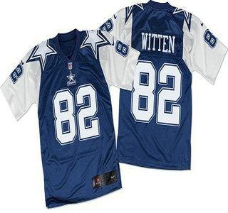 new product cb79e d00c6 Men's Dallas Cowboys #82 Jason Witten Navy Blue White ...