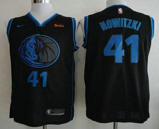 9fb212410d Men s Dallas Mavericks  41 Dirk Nowitzki New Black 2019 City Edition NBA  Swingman 5miles Stitched NBA Jersey