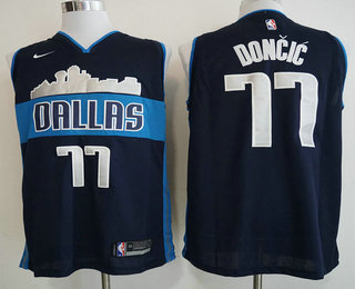 b71723d8795 Men s Dallas Mavericks  77 Luka Doncic Navy Blue 2017-2018 Nike Swingman  Stitched NBA Jersey