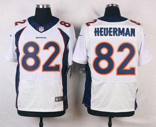 official photos b547f 71ed8 Men's Denver Broncos #82 Jeff Heuerman White Road NFL Nike ...