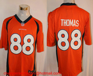 Wholesale Men's Denver Broncos #88 Demaryius Thomas White Road NFL Nike Game  free shipping