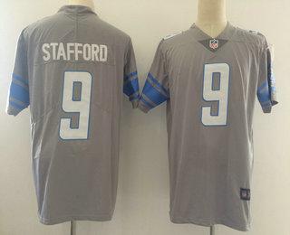 the latest ecf47 c6630 Men's Detroit Lions #9 Matthew Stafford Steel Gray 2017 ...