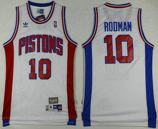 huge selection of 6b220 bd300 Men's Detroit Pistons #11 Isiah Thomas White Hardwood ...