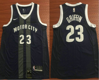 a4a913a4f14 Men s Detroit Pistons  23 Blake Griffin Black Nike 2019 New Season Swingman  City Edition Jersey