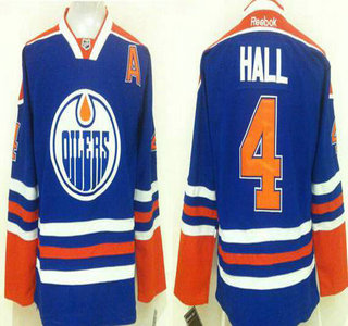 release date 40a92 2cd75 Men's Edmonton Oilers #14 Eberle Reebok Royal Blue Home ...