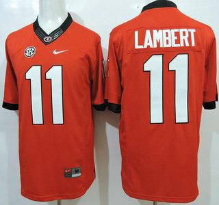 Men s Georgia Bulldogs  11 Greyson Lambert Red 2015 College Football Nike  Limited Jersey d825588e5