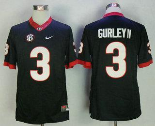 100% authentic 37728 57c99 Men's Georgia Bulldogs #3 Todd Gurley II Black Limited ...