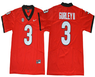 huge selection of 6fae4 571e0 Men's Georgia Bulldogs #3 Todd Gurley II Red Limited 2017 ...