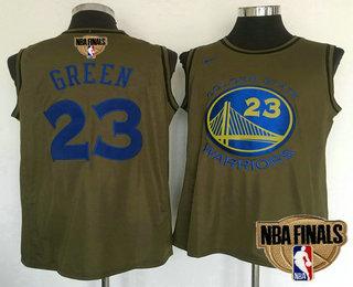 20d0b1c3839 Men s Golden State Warriors  23 Draymond Green Green Olive 2018 The NBA  Finals Patch Nike Swingman Jersey