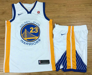 Men s Golden State Warriors  23 Draymond Green White 2017-2018 Nike  Swingman Rakuten Stitched NBA Jersey With Shorts 3703c2f1c