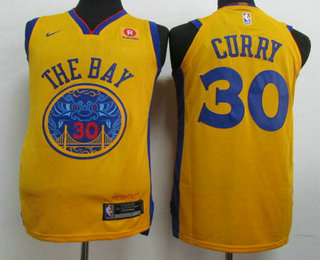 huge discount 65c1b 81ab4 Men's Golden State Warriors #30 Stephen Curry Gold 2017-18 ...