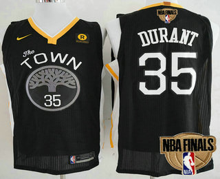 dc7b1d219 Men s Golden State Warriors  35 Kevin Durant Black The Town 2018 The NBA  Finals Patch Nike Swingman Jersey