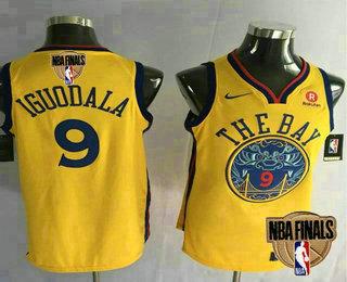 the latest dcd52 1f26d Men's Golden State Warriors #9 Andre Iguodala Yellow City ...