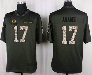 316a004b4 ... Mens Green Bay Packers 17 Davante Adams Black Anthracite 2016 Salute To  Service Stitched NFL Nike Davante Adams Mens Elite ...