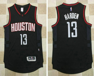 Men s Houston Rockets  13 James Harden Black AU Stitched NBA Revolution 30  Swingman Jersey 9b0ae22a5