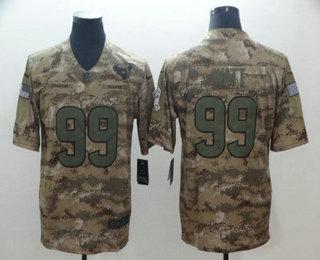Discount Men's Houston Texans #99 J.J. Watt Nike Navy Therma Long Sleeve  for cheap
