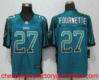 Wholesale Men's Jacksonville Jaguars #27 Leonard Fournette Green Drift  free shipping