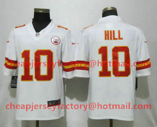 e5d6935ee Men s Kansas City Chiefs  10 Tyreek Hill White 2017 Vapor Untouchable Stitched  NFL Nike Limited