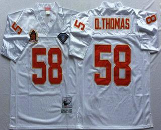 low priced 496b5 771eb Men's Kansas City Chiefs #58 Derrick Thomas White 75TH ...