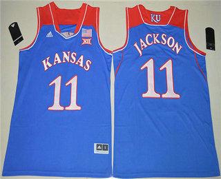 accc51906404 Men s Kansas Jayhawks  11 Josh Jackson Royal Blue College Basketball  Swingman Stitched NCAA Jersey