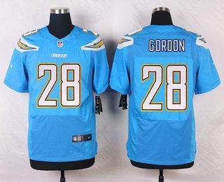 dd897a7ed53 Men s Los Angeles Chargers  28 Melvin Gordon Light Blue Alternate NFL Nike  Elite Jersey