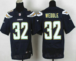 Wholesale Men's Los Angeles Chargers #32 Eric Weddle Navy Blue Team Color NFL  for sale