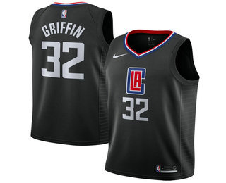 118dc9c3a16 Men s Los Angeles Clippers  32 Blake Griffin Black 2017-2018 Nike Swingman  Stitched NBA
