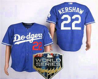 timeless design 0b92f ad922 Men's Los Angeles Dodgers #22 Clayton Kershaw Royal Blue ...