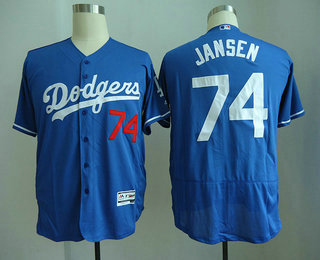 6b44e71d2a5 ... official store mens los angeles dodgers 74 kenley jansen royal blue  stitched mlb flex base jersey