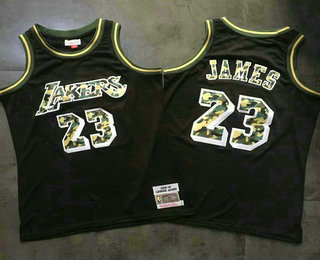 cheap for discount 0b1b7 8e31e Men's Los Angeles Lakers #23 LeBron James Black With Camo ...