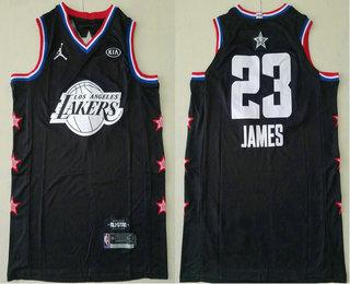 info for 95faf 3357d Men's Los Angeles Lakers #23 LeBron James Jordan Brand Black ...