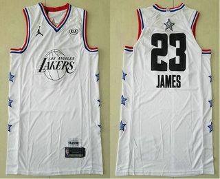 d01d703a7 Men s Los Angeles Lakers  23 LeBron James Jordan Brand Player White 2019 All -Star