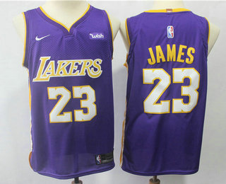 detailed look aa7a0 8fec9 Men's Los Angeles Lakers #23 LeBron James MPLS Blue Hardwood ...