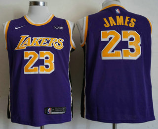 Men s Los Angeles Lakers  23 LeBron James Purple 2018-2019 Nike Wish  Swingman Stitched NBA Jersey fef3bf471
