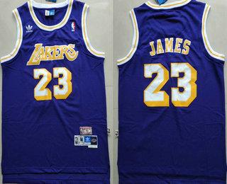 buy popular 3ca41 8d117 Men's Los Angeles Lakers #23 LeBron James Purple Swingman ...