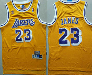 new style 35742 916e0 Men's Los Angeles Lakers #23 LeBron James Purple With Black ...