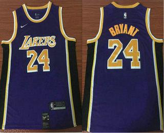 8131bf71646 Men's Los Angeles Lakers #24 Kobe Bryant Purple 2018-2019 Nike Swingman  Stitched NBA