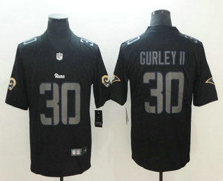 Men s Los Angeles Rams  30 Todd Gurley II Black 2018 Fashion Impact Black  Color Rush Stitched NFL Nike Limited Jersey bee4ce87e