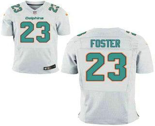 Cheap Men's Miami Dolphins #23 Arian Foster White Road NFL Nike Elite Jersey  free shipping