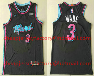 quality design 325cc ff070 Men's Miami Heat #3 Dwyane Wade Black 2017-2018 Ultimate ...