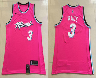 1458ccef5e1 Men s Miami Heat  3 Dwyane Wade Red Nike Swingman 2018 playoffs Earned  Edition Stitched Jersey