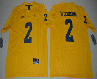 newest 264f8 979fd Men's Michigan Wolverines #2 Charles Woodson Yellow Limited ...