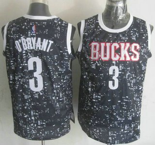 f848d24dfbab Men s Milwaukee Bucks  3 Johnny O Bryant 2015 City Lights Black Swingman  Jersey