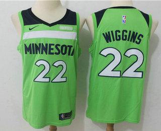 Men S Minnesota Timberwolves 22 Andrew Wiggins New Green 2017