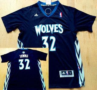 ... Jersey Mens Minnesota Timberwolves 32 Karl-Anthony Towns Revolution 30  Swingman Black Short-Sleeved ... 6fcfb31f4