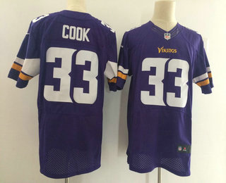 2b149a42e Men's Minnesota Vikings #33 Dalvin Cook Purple Team Color Stitched NFL Nike  Elite Jersey