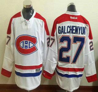 d79efe03e Men s Montreal Canadiens  27 Alex Galchenyuk Reebok White 2015-16 Away  Premier NHL Jersey